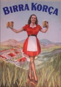 Birra Korçan vanha juliste